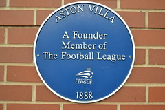 Photo of Aston Villa Football Club blue plaque