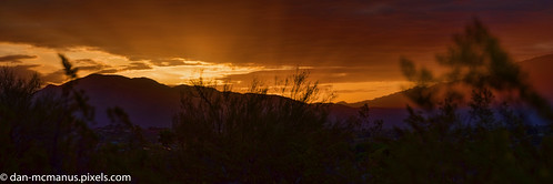 arizona panorama rays sunrise tucson