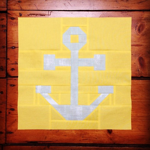 Anchor block for the #comfortcircle boat and beach quilt #dogoodstitches July 2014