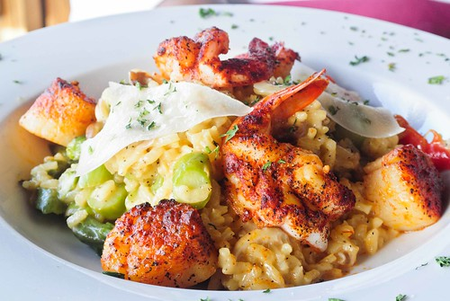 Risotto with Shrimp and Scallops