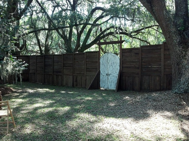 Rustic Cypress Walls with Gate