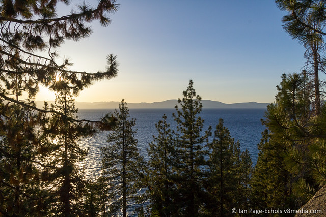 Arriving at Lake Tahoe