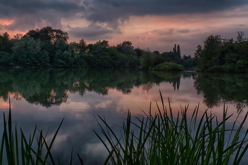 sunset summer england lake reflection pool midsummer unitedkingdom loughborough charnwood charnwoodwater blindphotographers pwpartlycloudy