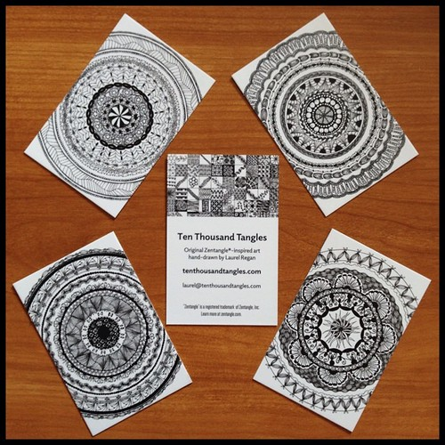 Love my new Ten Thousand Tangles business cards from @moo! #zentangle #zia #tangle