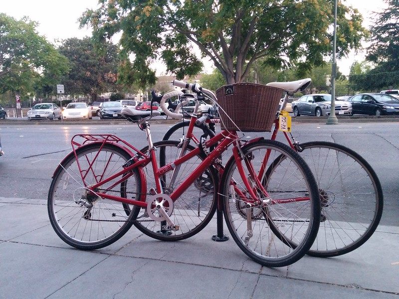 red bikes outdoor.
