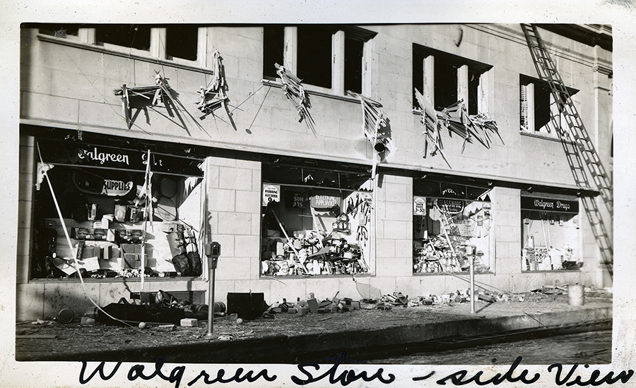 Walgreens Drug Store, explosion, 601-603 Austin Avenue, Waco, Texas