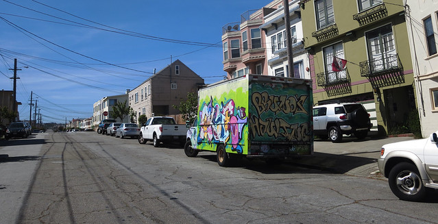 Graffiti Truck on 26th Avenue: Bruno's Hauling.  San Francisco (2014)