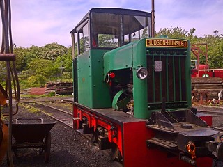 Hudson-Hunslet Diesel, 'Victor' at The Stittingbourne & Kemsley Railway. 05 05 2014