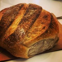 whole grain(0.0), sliced bread(0.0), meal(1.0), breakfast(1.0), beer bread(1.0), bread(1.0), rye bread(1.0), baked goods(1.0), ciabatta(1.0), food(1.0), brown bread(1.0), sourdough(1.0),