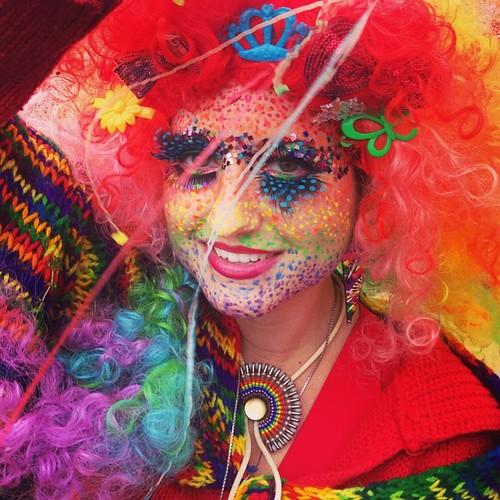 Rainbow confetti goddess Fiona colored my world...