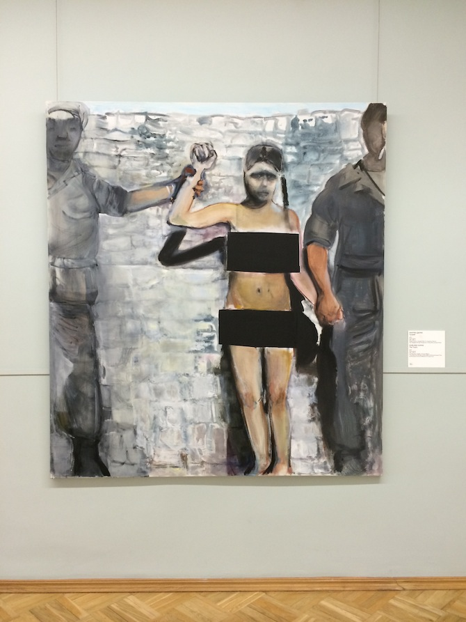 Marlene Dumas The Trophy, 2013 Installation view, MANIFESTA 10, Winter Palace, State Hermitage Museum, 2014.