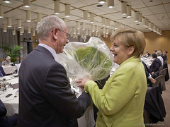 Birthday flowers to Angela Merkel