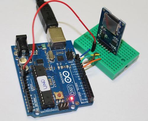 MicroSD card module for Arduino- minibread (1)