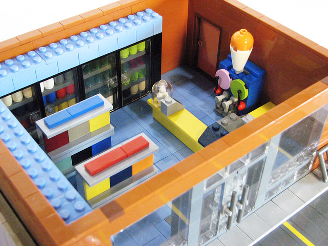 The Kwik-E-Mart interior