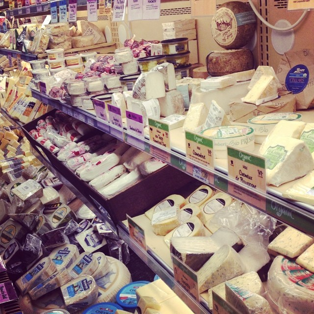 American grocery store cheese sections are overwhelming #expatlife