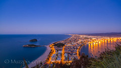 muzzpix-nz posted a photo:	Facebook    | 500px  | WebsiteA cool clear winters evening means that you can sea fore-ever … The Mount town and Port of Tauranga from atop the Mount .