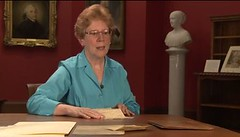 Anne Bentley with Jefferson's Notes on Virginia