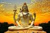 lord shiva sunset background