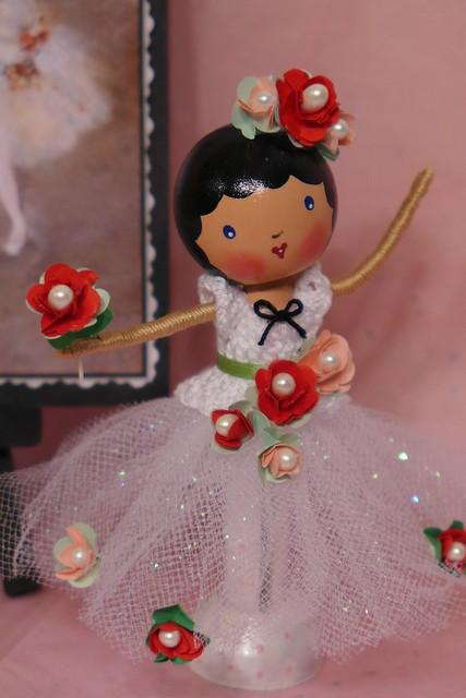Degas Inspired Ballerina Clothespin Doll