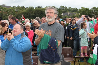 Gerry Adams at Hungerstrike rally in Derrylin, Co. Fermanagh
