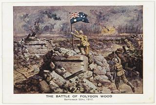 Postcard - The Battle of  Polygon Wood