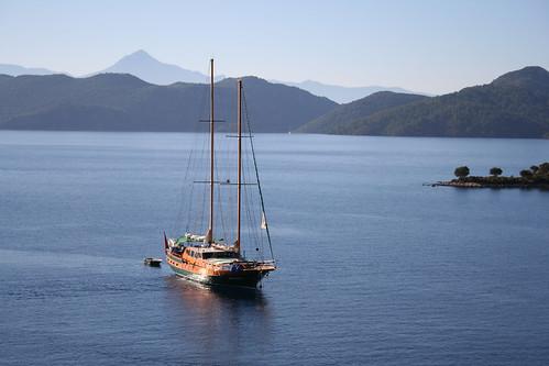 Yacht sailing Aegean