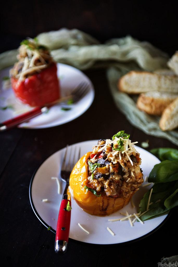 Slow Cooker Italian Stuffed Peppers