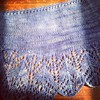 Finished shawl ready to mail out as a surprise gift to a friend this week.  #knitshawls