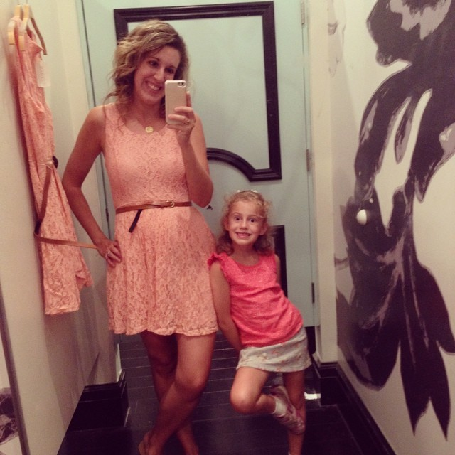 This girl wanted to get Mommy a dress for her birthday, so off to F21 we went. This is the beautiful dress she selected for me. What a sweetie!!!