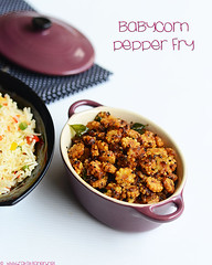 Baby corn pepper fry
