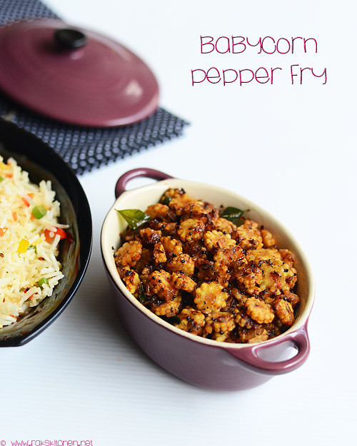 baby corn-pepper-fry