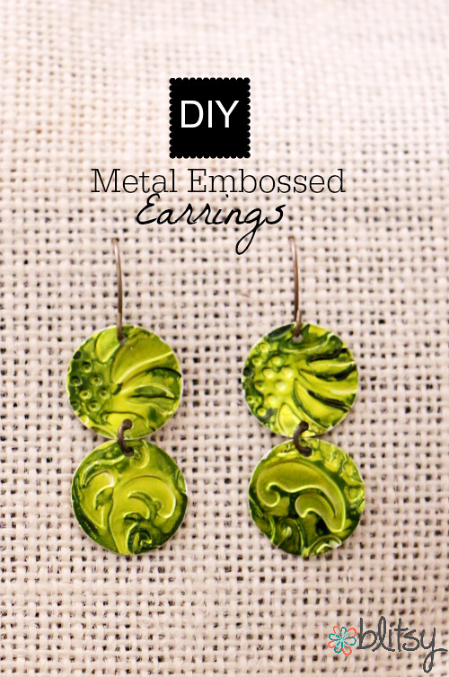 Metal Embossed Earrings by Blitsy Crafts