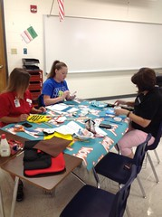 Groups working on the GPFA Masterpiece.