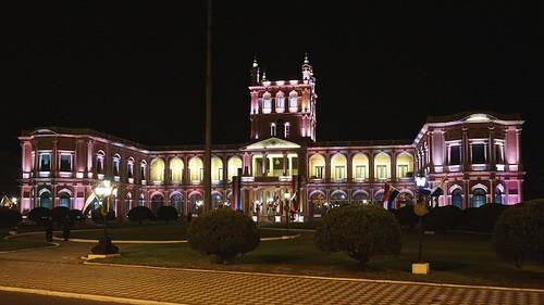 city night de view vista asuncion paraguay lopez palacio