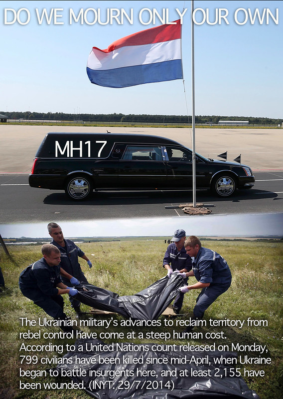 EAST-UKRAINE-MH17: do we only mourn our own? UN count 799 civilians killed since start insurgency mid-April