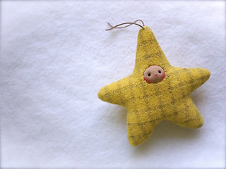 Yellow Plaid STAR: tan