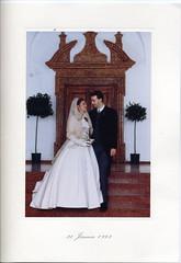 107. Habsburg-Lotharingiai Károly esküvői köszönőlevele az ifjú pár esküvői képével