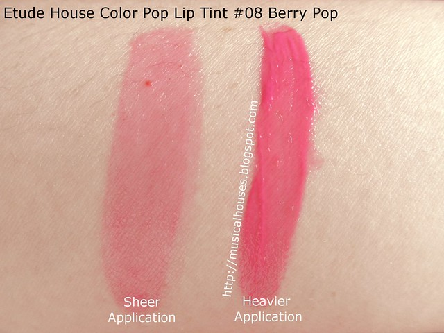 Etude House Color Pop Lip Tint 08 Berry Pop Swatch