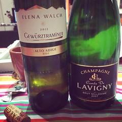 #visioni #vino #wine pizza champagne e traminer lasciate sta  che ora mi mangio una pistocchi