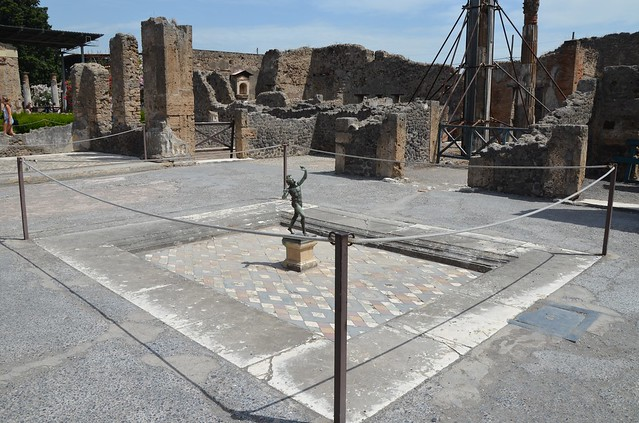 House of the Faun, the large atrium with cubicula on three sides and a tablinum at the rear, Pompeii