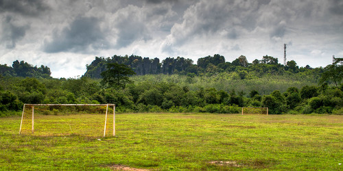 The beautiful game, even in the middle of a rainforest