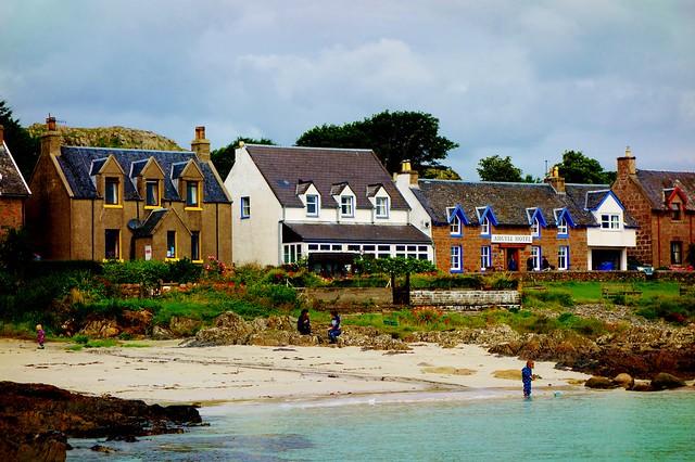 Beach side village Iona, Scotland