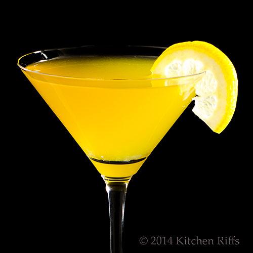 Sundowner Cocktail with lemon slice garnish