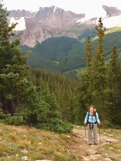 Jen Hiking up Huron Peak