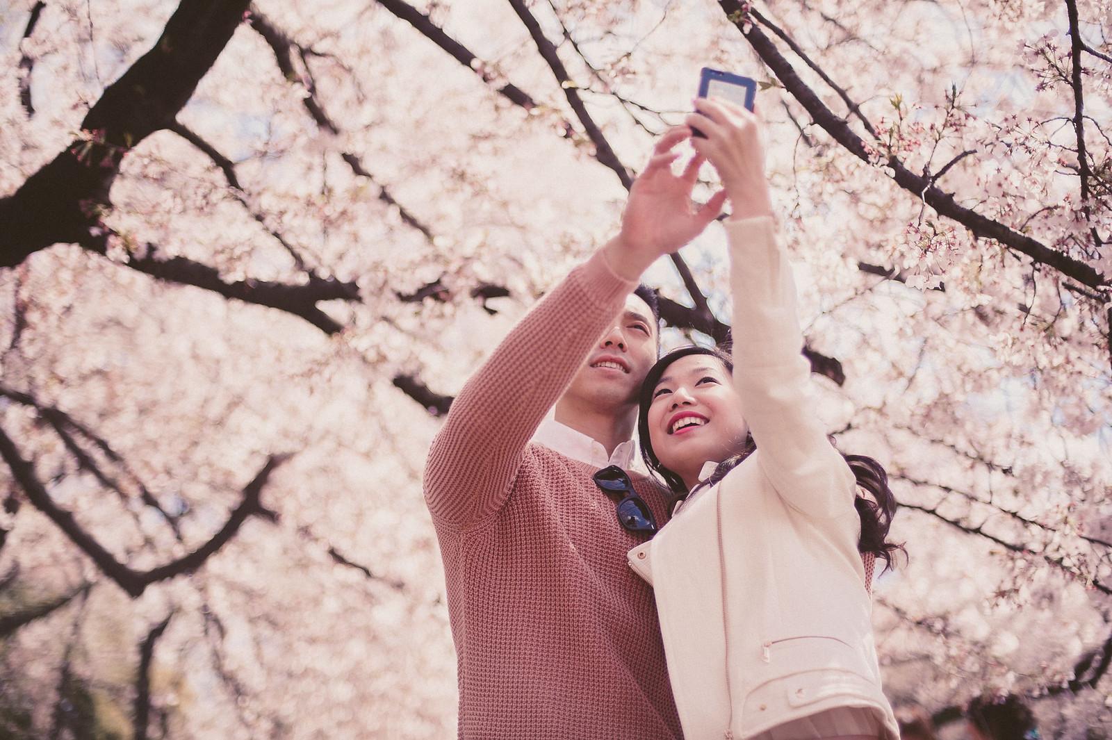 Jakarta, Multifolds, overseas pre wedding, Tokyo, Ines and Irjen, Sakura, cherry blossom, Japan, lovescapade
