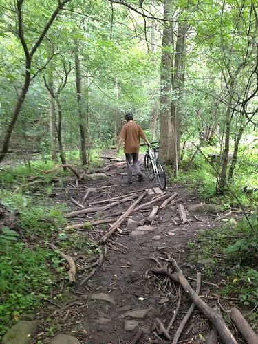 trail near Mud Lake