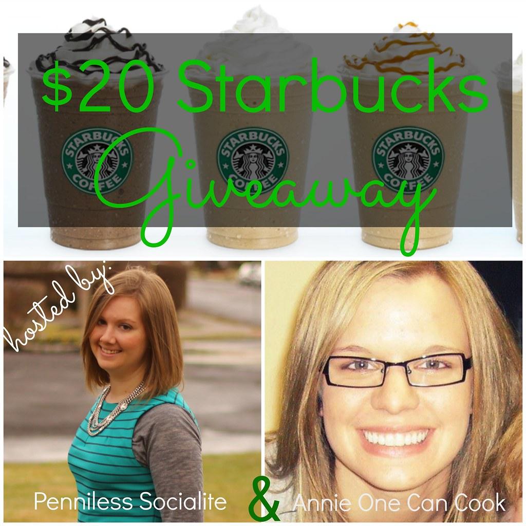 20 Starbucks Giveaway