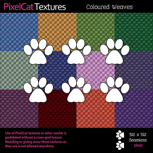 PixelCat Textures - Coloured Weaves