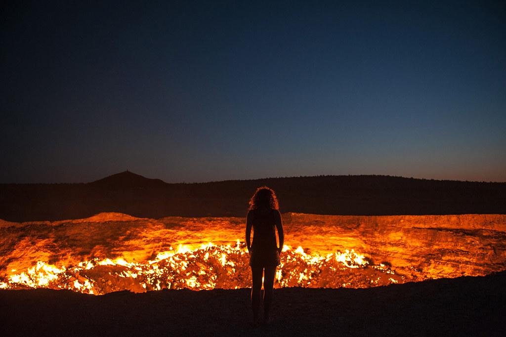 Turkmenistan Darvaza crater volcano