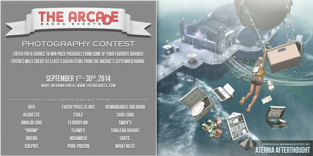 The Arcade Photography Contest - September, 2014